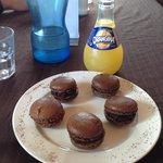 Chocolate macarons and Orangina