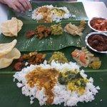 Excellent vegetarian banana leaf banquet