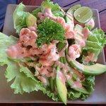 Avocado shrimp cocktail