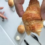 croissant with truffle butter - to die for