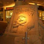 2013年Xmassの砂の彫刻、サンタ