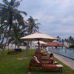 near by pool