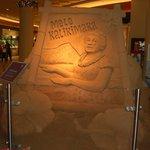 2013年Xmassの砂の彫刻、裏