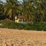 Blick auf die Anlage vom Strand