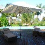 Der eigene Pool in der Villa