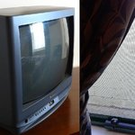 old TV & window view