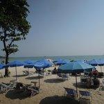 目の前に広がるビーチエリア