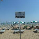 Spiaggia privata davanti all'hotel