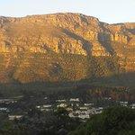 Die Aussicht vom Balkon aus auf den Tafelberg