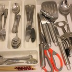 Cutlery set in the room