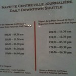 shuttle schedule going to the  city