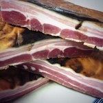 Home cured and smoked bacon