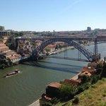 Vista da ponte de ferro