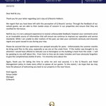 Response from Qresort Holborn Management