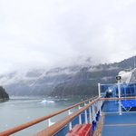 Tracy Arm Fjord from the decks of the Golden Princess