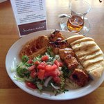Chicken Kebab lunch special & hot tea