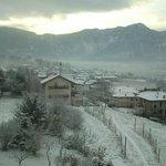 Dal terrazzo in inverno