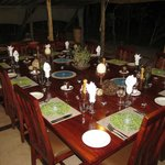 Dinner at Changa Safari Camp