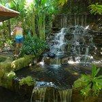 водопад на территории отеля