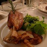 the stinco di maiale--the pork shank. falls off the bone