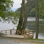 Deck overlooks Shenandoah River- For Wedding ceremonies  (must reserve entire kamp).