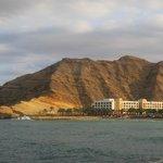 Al Waha hotel from across the resort