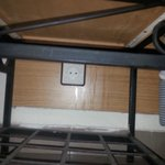 socket under a table on floor