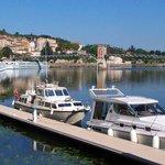 Chemin de halage en bord de Saône