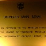 Memorial Plaque from Yorkshire Miners