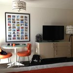 Room pic - flat screen/table/room for roll away bed