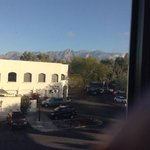 View of mountains from our room.