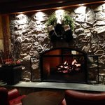 Huge Fireplace in the lodge