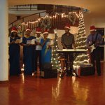 Christmas carols by the staff