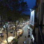 Вид с личного балкона на #La Rambla в сторону моря
