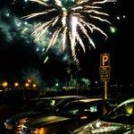 Fireworks display in St Aubin