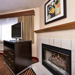King Bed/Whirlpool and Fireplace