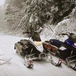 Testing our new snowmobiles