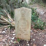 Google his name and read about his life by a hiker/blogger!  This was on the Willie Brown Trail-