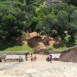 climbing the main pyramid
