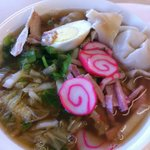 Saimin Bowl - Pork, Egg, Seafood Cake, Noodles, Broth....