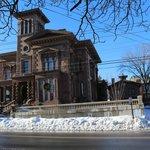 Victoria Mansion exterior, Christmas '13