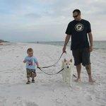 Walk on the beautiful beach