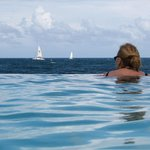 Infinity: the Pool and sailing boats on the ocean