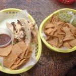 taco, chips n guac