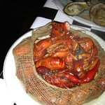 crawfish, oysters in background