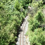 From the eyefull tower you get to see the railway and some views across New Zealand