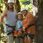 Our family on the canopy tour