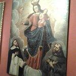 pintura com São Francisco de Assis.