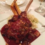 Veal Chop with Champagne Risotto