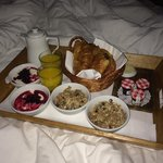 'Breakfast in bed' menu